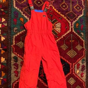 LL Bean Red Snowsuit Size S 8